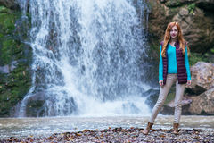 Redhead woman traveler Stock Image