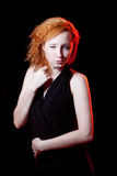 Redhead woman winking Stock Images