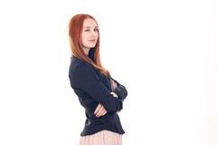 Redhead woman winks at the camera Royalty Free Stock Photo