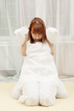 Redhead woman at Yumeiho therapy Stock Images