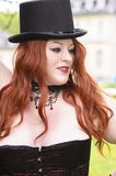 Redhead XXL model in Park Royalty Free Stock Photography