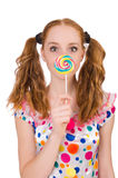 Redhead young girl Stock Photography