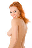 Redhead young naked woman Royalty Free Stock Photo