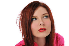 Redhead young woman Stock Photography