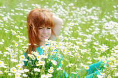 Redhead young woman Stock Photos