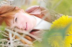 Redheaded autumn Stock Image
