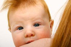 Redheaded baby Royalty Free Stock Photography