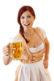 Redheaded bavarian female Royalty Free Stock Images