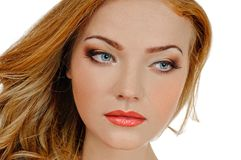 Redheaded beauty Stock Image