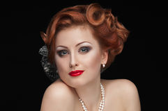 Redheaded  beauty Stock Images