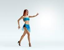 Redheaded dancing girl pose Royalty Free Stock Photo