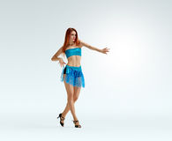 Redheaded dancing girl Royalty Free Stock Photo