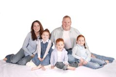 Redheaded Familie Stock Foto