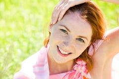 Redheaded Frau Stockbilder