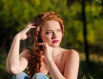 Redheaded girl portrait Stock Image