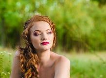 Redheaded girl portrait Stock Photos