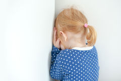 Redheaded girl is punished Royalty Free Stock Images