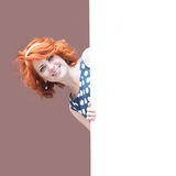 Redheaded girl Stock Photos