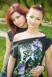 Redheaded girls stock photo