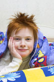 Redheaded happy boy royalty free stock photo