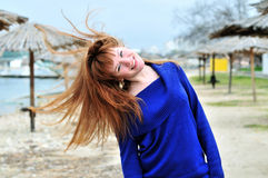 Redheaded happy girl Royalty Free Stock Photography