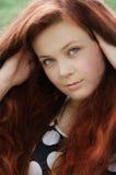 Redheaded jong meisje Royalty-vrije Stock Foto