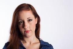 Redheaded kvinna Arkivfoton