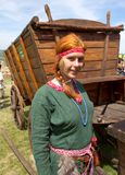 Redheaded medieval girl Royalty Free Stock Image