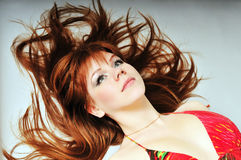 Redheaded portrait Stock Images