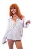 redheaded sexig kvinna Royaltyfria Bilder