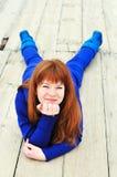 redheaded slughet Arkivfoto