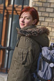 Redheaded Studentin Lizenzfreie Stockfotos