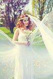 Redheaded wiosny piękno Zdjęcia Stock