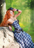 Redheaded woman Stock Photography