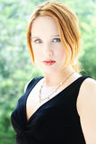 Redheaded young woman Royalty Free Stock Photography
