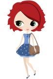 Redheadflicka Royaltyfri Foto