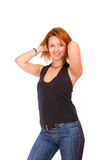 Redheadfrau Lizenzfreie Stockfotografie