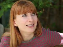 Redheadfrau Lizenzfreies Stockfoto