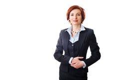 Redheadgeschäftsfrau Stockfotos