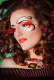 Redheadschönheit Stockfoto