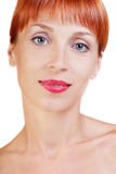 Redheadschönheit Lizenzfreies Stockfoto