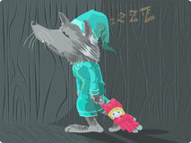 Redhoot de loup Image libre de droits
