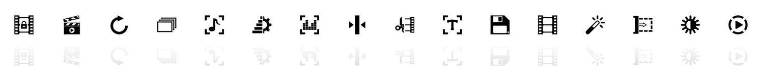 Redigera för video - plana vektorsymboler royaltyfri illustrationer