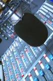 redigera mikrofonstudioföljet royaltyfria foton