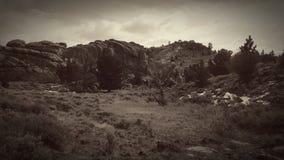 Redigerar hojta svartvitt för berg Royaltyfri Bild