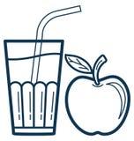Redigerbar Juice Cup Line Vector Isolated symbol som skräddarsy och vektor illustrationer