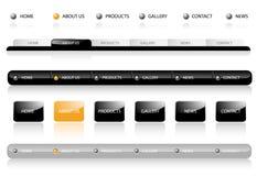 redigerbar navigeringmallwebsite Arkivfoto
