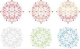Redigerbar orb för vektor, prickar, fläckar, full resizable bild-, logo- och bakgrundsdel Vektor Illustrationer