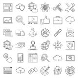 Redigerbar vektoruppsättning Internet- och utvecklingstecken vektor illustrationer