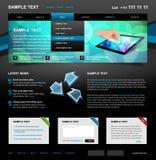redigerbar website för mall 4 Arkivfoto